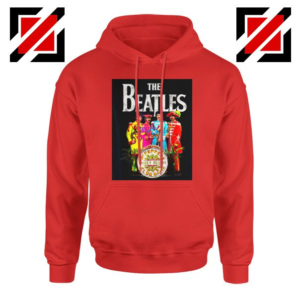 Best Lonely Hearts Band Hoodie The Beatles Hoodie Size S-2XL Red
