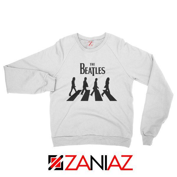 Best The Beatles Logo Sweatshirt Music Band Sweatshirt Size S-2XL White