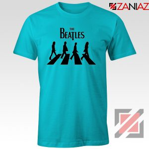 Best The Beatles Logo T shirt Music Band Tshirt Size S-3XL Light Blue