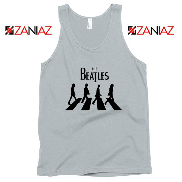 Best The Beatles Logo Tank Top Music Band Tank Top Size S-3XL Silver