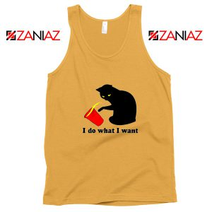 Black Cat Red Cup Funny Tank Top Do What I Want Tank Top Sunshine