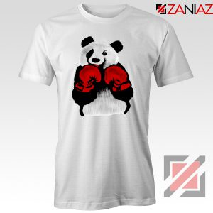 Boxing Panda Bear Tee Shirt Funny Animal T-Shirt Size S-3XL White