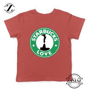 Buy Cheap Love Starbucks Parody Gifts Kids Tee Shirt Red
