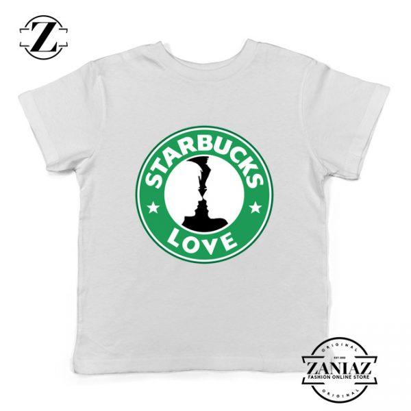 Buy Cheap Love Starbucks Parody Gifts Kids Tee Shirt White