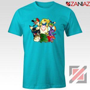 Buy Cheap Monster Hunter World Gifts Tee Shirt Size S-3XL Light Blue