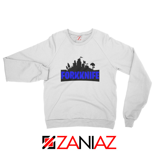 Buy Fork Knife Sweatshirt Fortnite Parody Sweatshirt Size S-2XL White