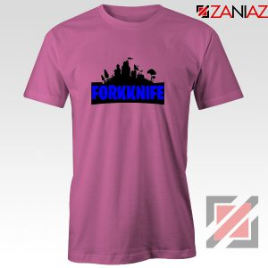 Buy Fork Knife T-shirt Fortnite Parody Tee Shirt Size S-3XL Pink