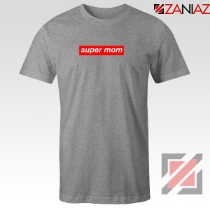Buy Funny Super Mom T-shirt Supreme Parody Tee Shirt Size S-3XL Sport Grey
