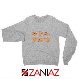 Buy Kitten Cute Sweatshirt Funny Cat Lover Sweatshirt Size S-2XL Sport Grey