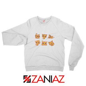 Buy Kitten Cute Sweatshirt Funny Cat Lover Sweatshirt Size S-2XL White