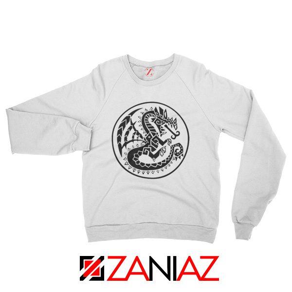 Buy Monster Hunter Logo Sweatshirt Designs Video Games Sweatshirt White
