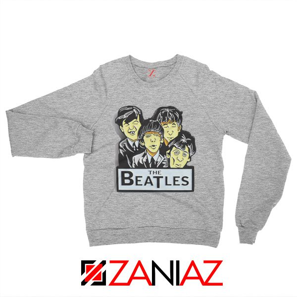 Buy The Beatles Band Sweatshirt Music Lover Sweatshirt Size S-2XL Sport Grey
