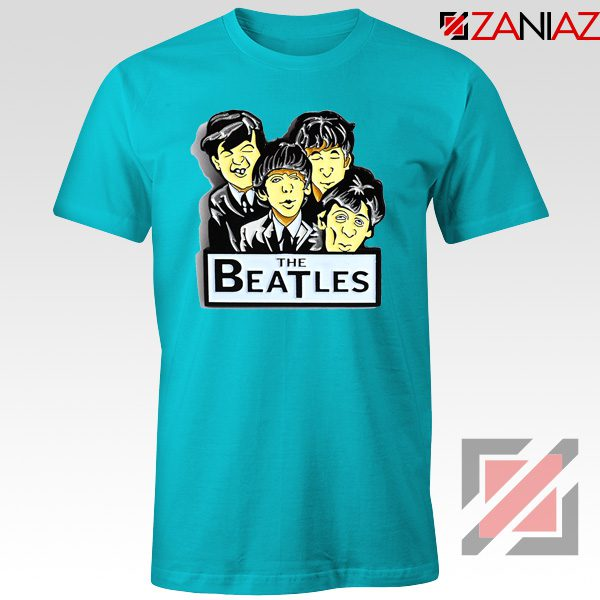 Buy The Beatles Band T shirt Music Lover Tee Shirt Size S-3XL Light Blue