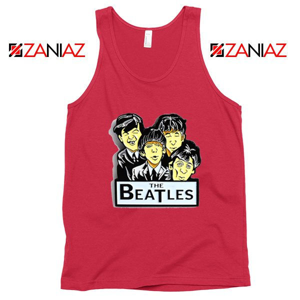 Buy The Beatles Band Tank Top Music Lover Tank Top Size S-3XL Red