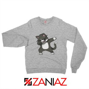 Cartoon Cat Style Sweatshirt Cat Lover Women Sweatshirt Size S-2XL Sport Grey