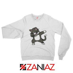 Cartoon Cat Style Sweatshirt Cat Lover Women Sweatshirt Size S-2XL White