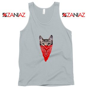 Cat Gangster Tank Top Funny Animal Tank Top Size S-3XL Silver