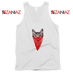Cat Gangster Tank Top Funny Animal Tank Top Size S-3XL White