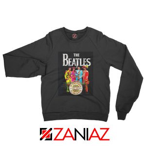 Cheap Lonely Hearts Band Sweatshirt The Beatles Sweatshirt Size S-2XL Black
