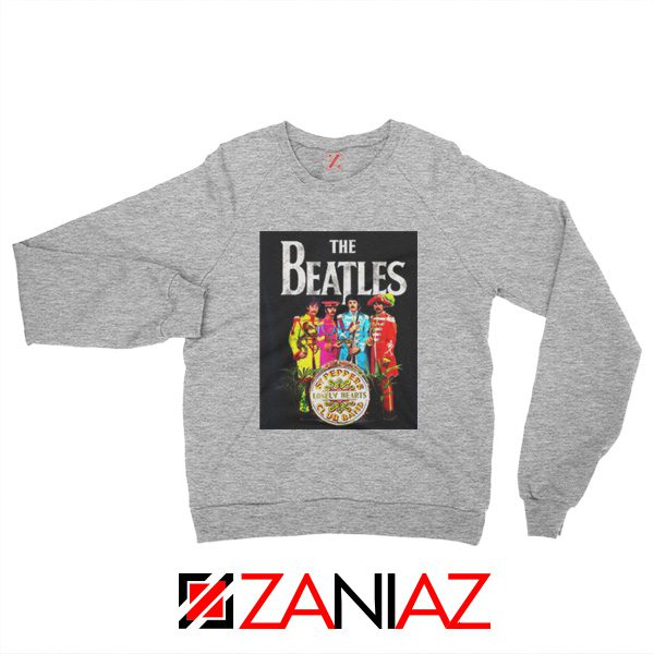 Cheap Lonely Hearts Band Sweatshirt The Beatles Sweatshirt Size S-2XL Sport Grey