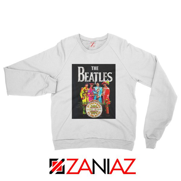 Cheap Lonely Hearts Band Sweatshirt The Beatles Sweatshirt Size S-2XL White
