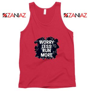 Cheap Quote Tank Top Merchandise GYM Workout Run More Size S-3XL Red