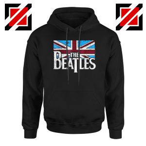 Cheap The Beatles British Flag Hoodie Music Hoodie Size S-2XL Black