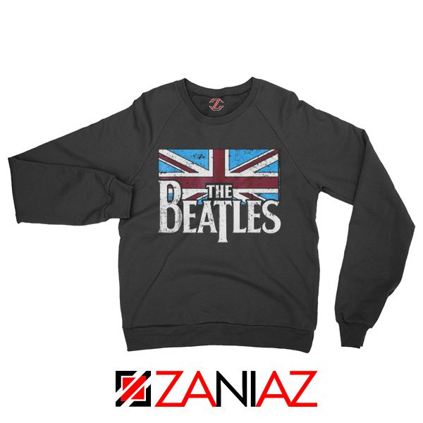 Cheap The Beatles British Flag Sweatshirt Music Sweatshirt Size S-2XL Black