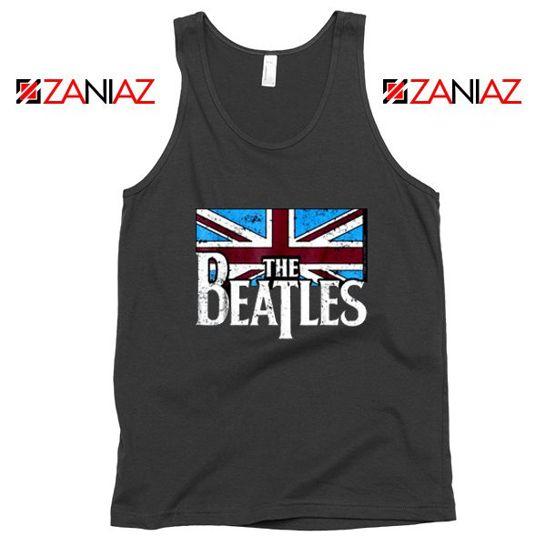 Cheap The Beatles British Flag Tank Top Music Tank Top Size S-3XL Black
