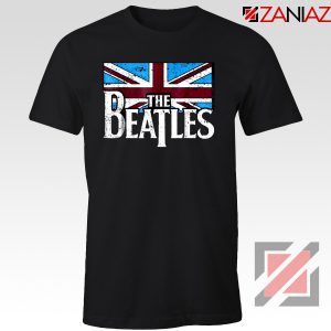 Cheap The Beatles British Flag Tee Shirt Music T-Shirt Size S-3XL Black