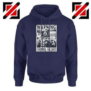Choking Hazard Hoodie Star Wars Darth Vader Hoodie Size S-2XL Navy Blue