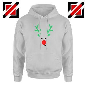 Christmas Reindeer Hoodie Merry Christmas Best Hoodie Size S-2XL Sport Grey
