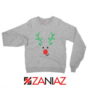 Christmas Reindeer Sweatshirt Merry Christmas Sweatshirt Size S-2XL Sport Grey