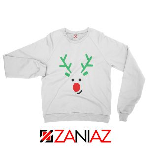 Christmas Reindeer Sweatshirt Merry Christmas Sweatshirt Size S-2XL White