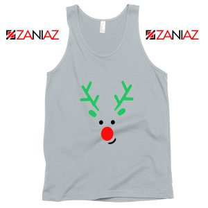 Christmas Reindeer Tank Top Merry Christmas Tank Top Size S-2XL Silver