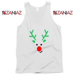 Christmas Reindeer Tank Top Merry Christmas Tank Top Size S-2XL White