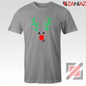 Christmas Reindeer Tee Shirt Merry Christmas T Shirt Size S-3XL Sport Grey