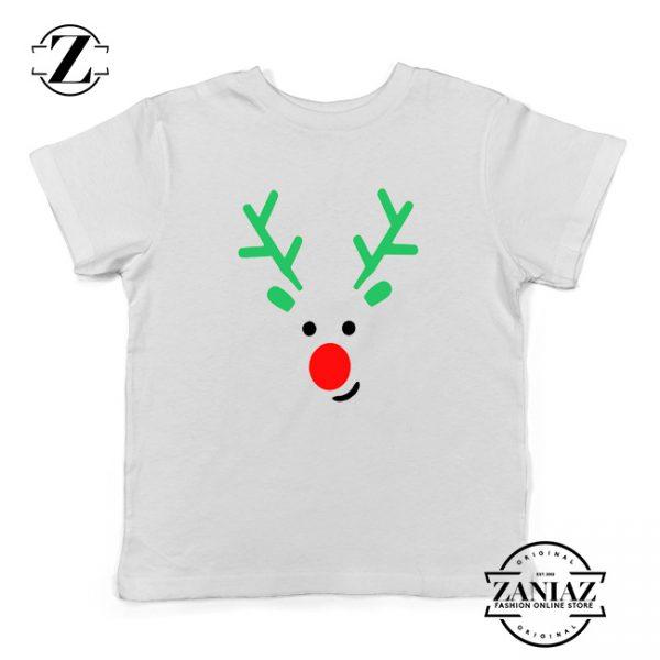 Christmas Reindeer Youth Shirt Merry Christmas Kids Shirt White