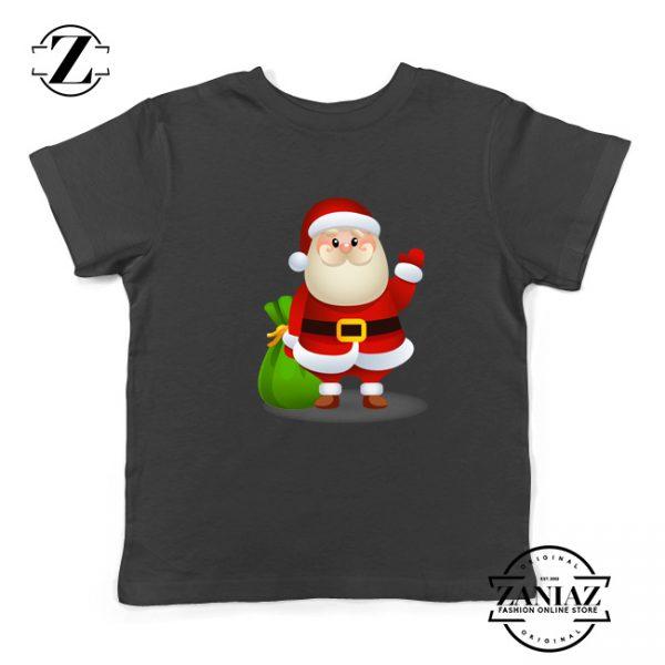 Christmas Santa Claws Gift Kids T-Shirt Size S-XL Black