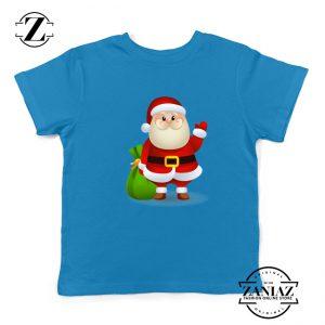 Christmas Santa Claws Gift Kids T-Shirt Size S-XL Blue