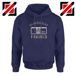Classically Gamer Hoodie Video Game Cheap Hoodie Size S-2XL Navy Blue