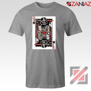 Darth Vader King of Spades T-Shirt Star Wars Tee Shirt Size S-3XL Sport Grey