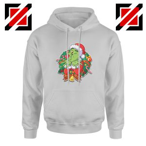 Father Christmas Hoodie Santa Claws Hoodie Size S-2XL Sport Grey