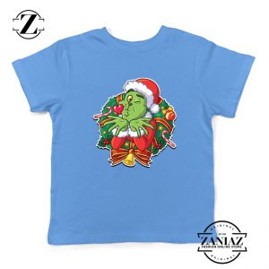Father Christmas Santa Claws Kids T-Shirt Size S-XL Light Blue