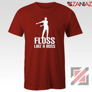 Floss Like A Boss Tshirt Dance Tee Shirt Gift Idea Size S-3XL Red
