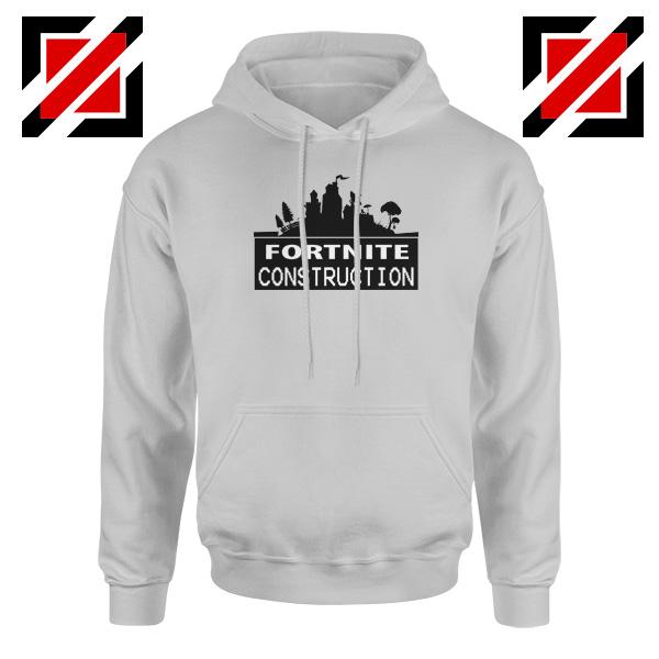 Fortnite Construction Company Hoodie Parody Fortnite Hoodie Sport Grey