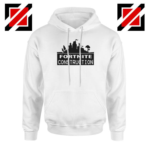 Fortnite Construction Company Hoodie Parody Fortnite Hoodie White