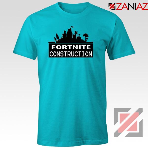 Fortnite Construction Company T-Shirt Parody Fortnite Tshirt Size S-3XL Light Blue