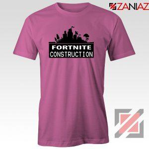 Fortnite Construction Company T-Shirt Parody Fortnite Tshirt Size S-3XL Pink