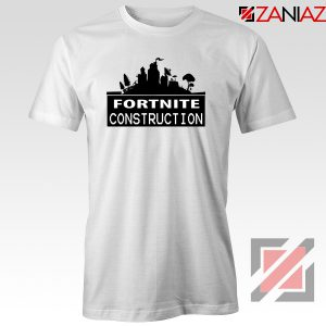 Fortnite Construction Company T-Shirt Parody Fortnite Tshirt Size S-3XL White